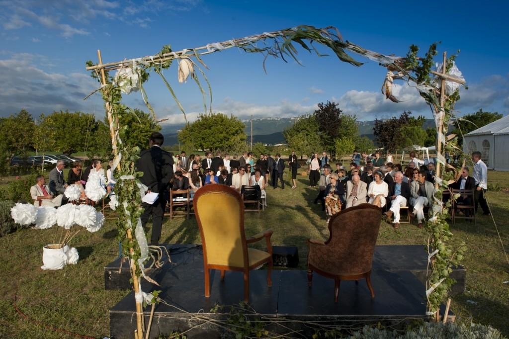 Cérémonie laìque mariage champêtre
