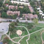 Vue de Jobourg depuis le ballon Hyundai du Mushroom Park