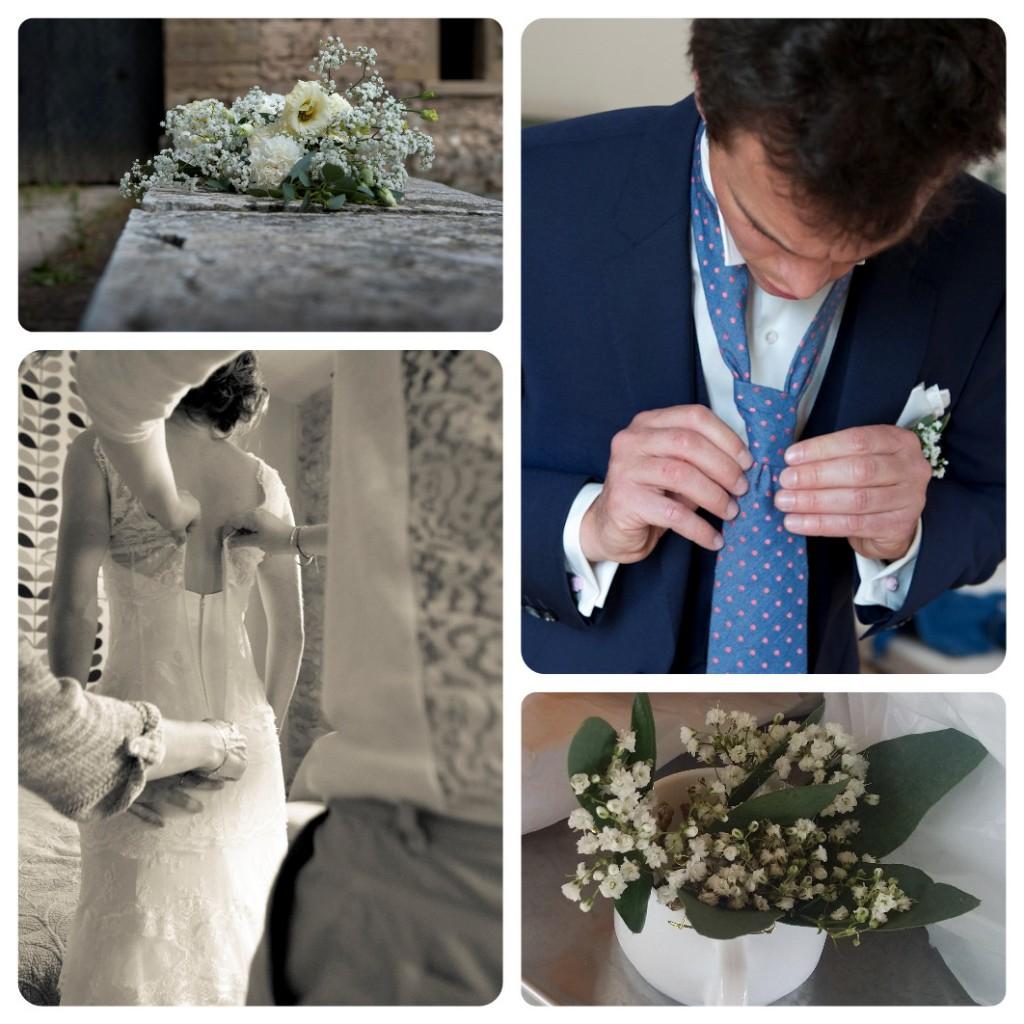 Préparation mariage champêtre