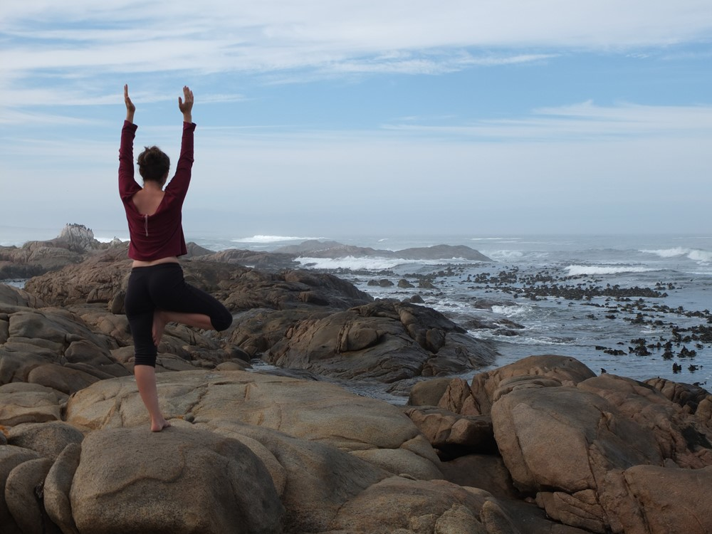 Yoga at Tietiesbaai, South Africa