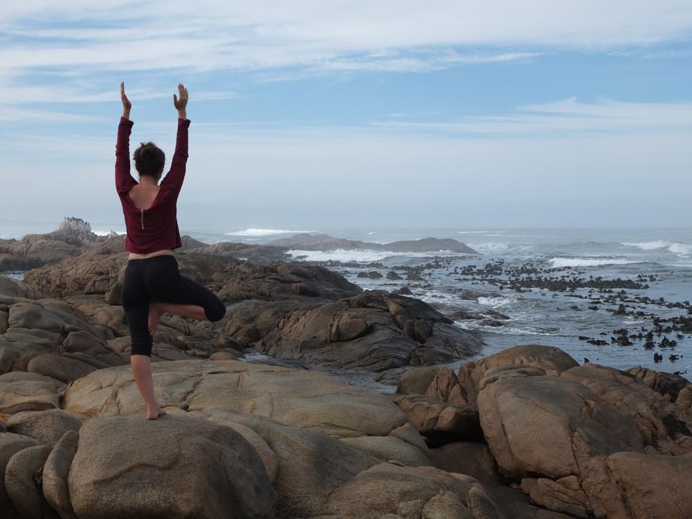 Yoga at Tietiesbaai, South Africa