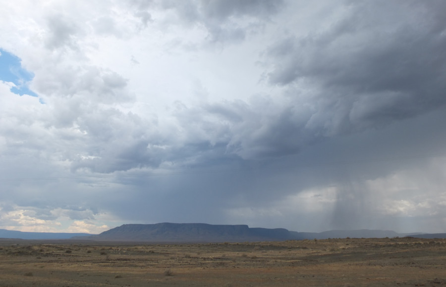 Cloudy sky over Tankwa Karoo NP